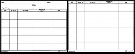 Ordförråd - Multipla Orddiagram - Mer Detaljer