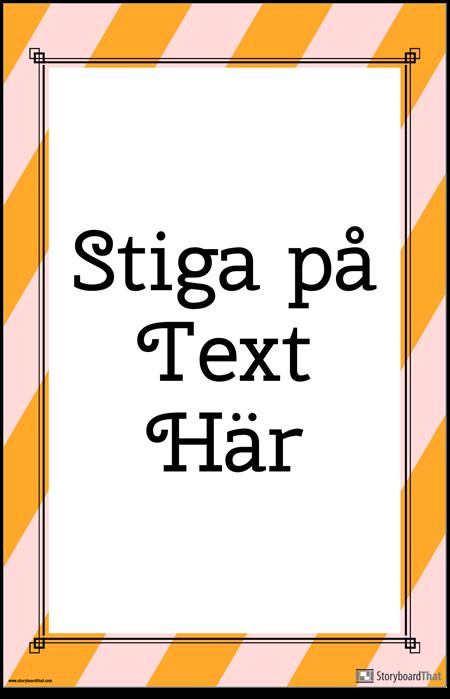 Randig Affisch för Vertikalt Citat