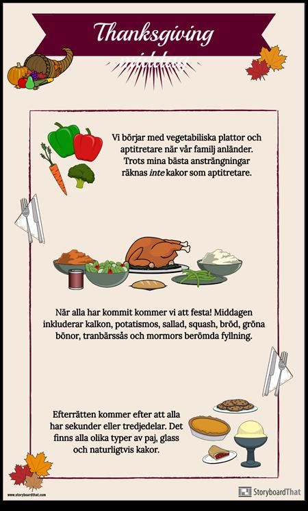 Thanksgiving-menyn