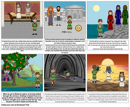 Perseus' Journey to Medusa
