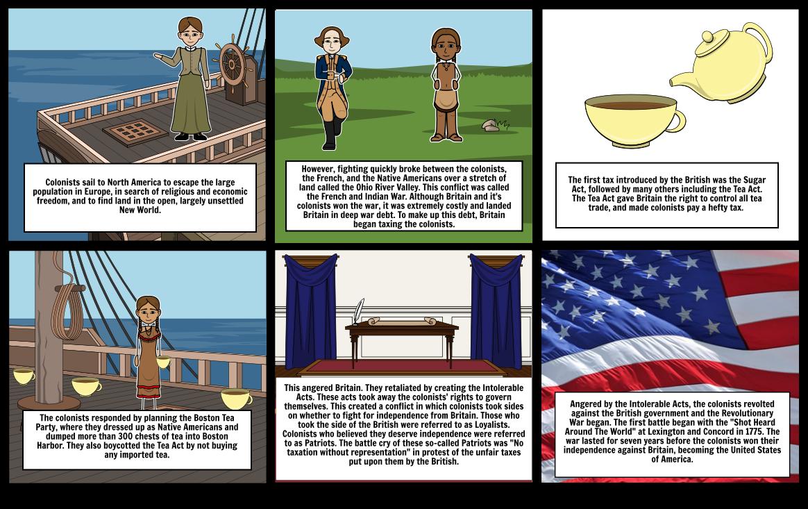 Revolutionary War Comic Strip