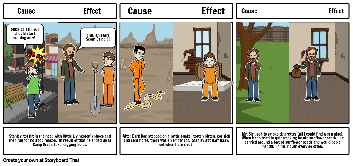 Cause and Effect for Holes
