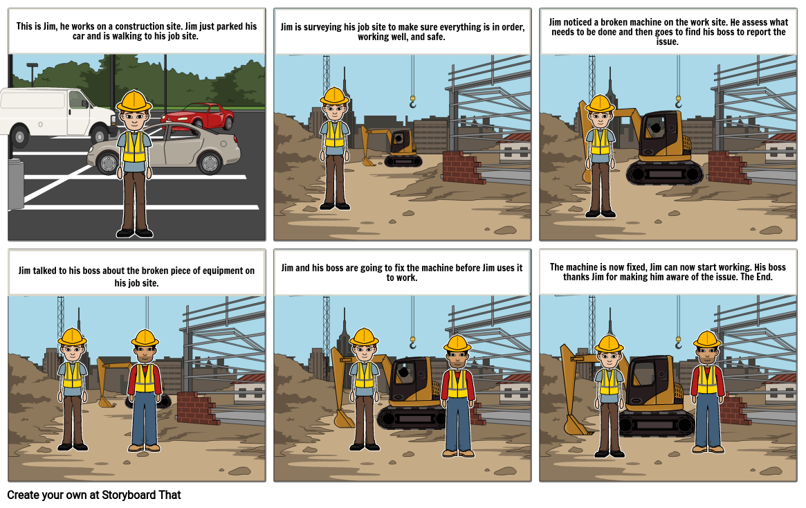 Reporting A Broken Machine On The Work Site