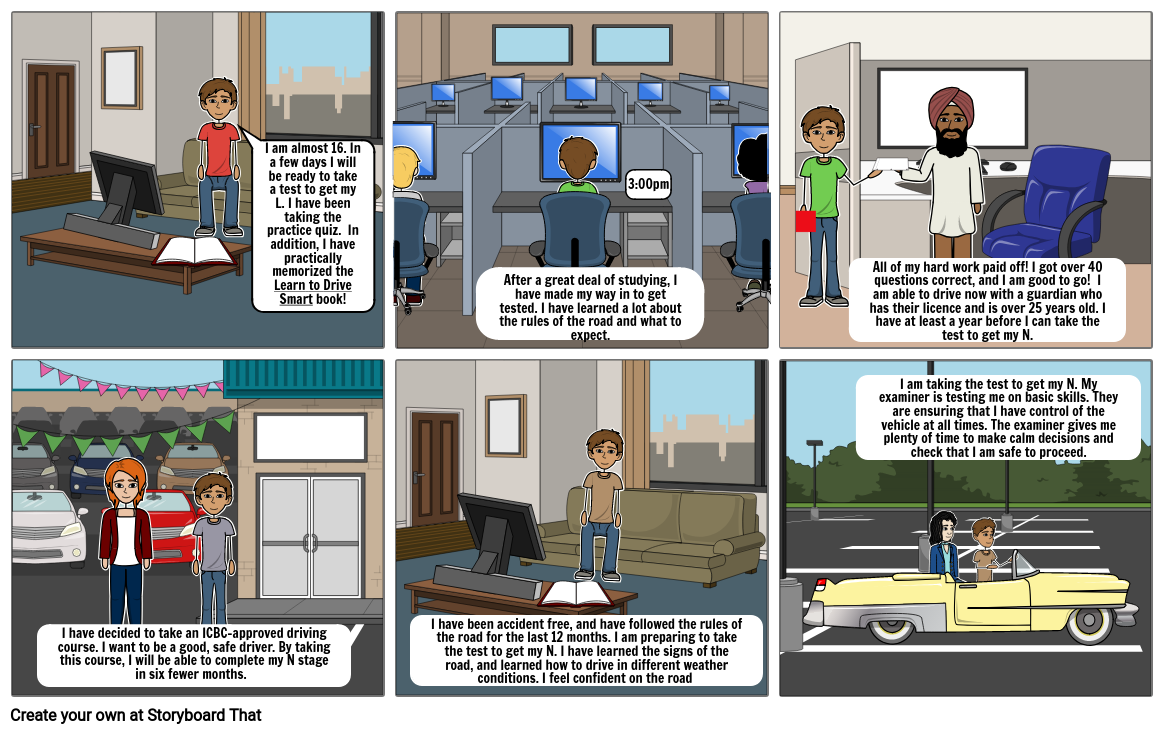 Career Ed Driving 1 Storyboard By Theaw3lls
