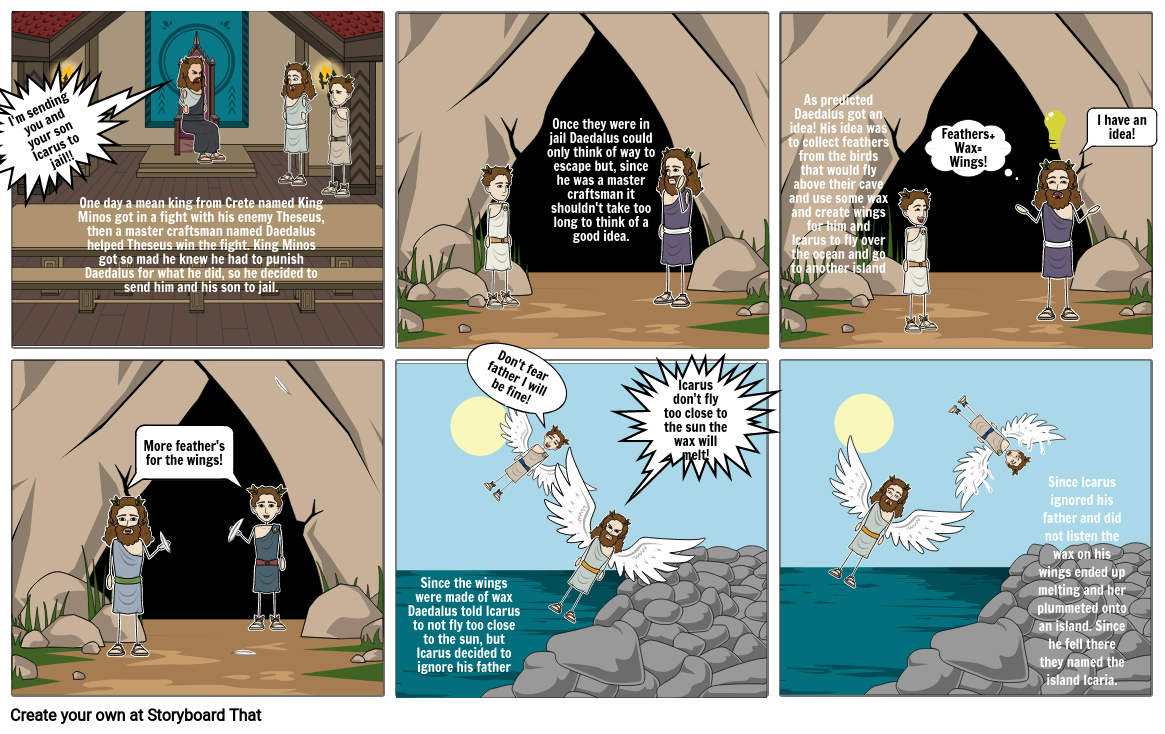 Gifted Storyboard - The Story of Icaros