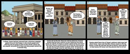 Julius Caesar storyboard 1