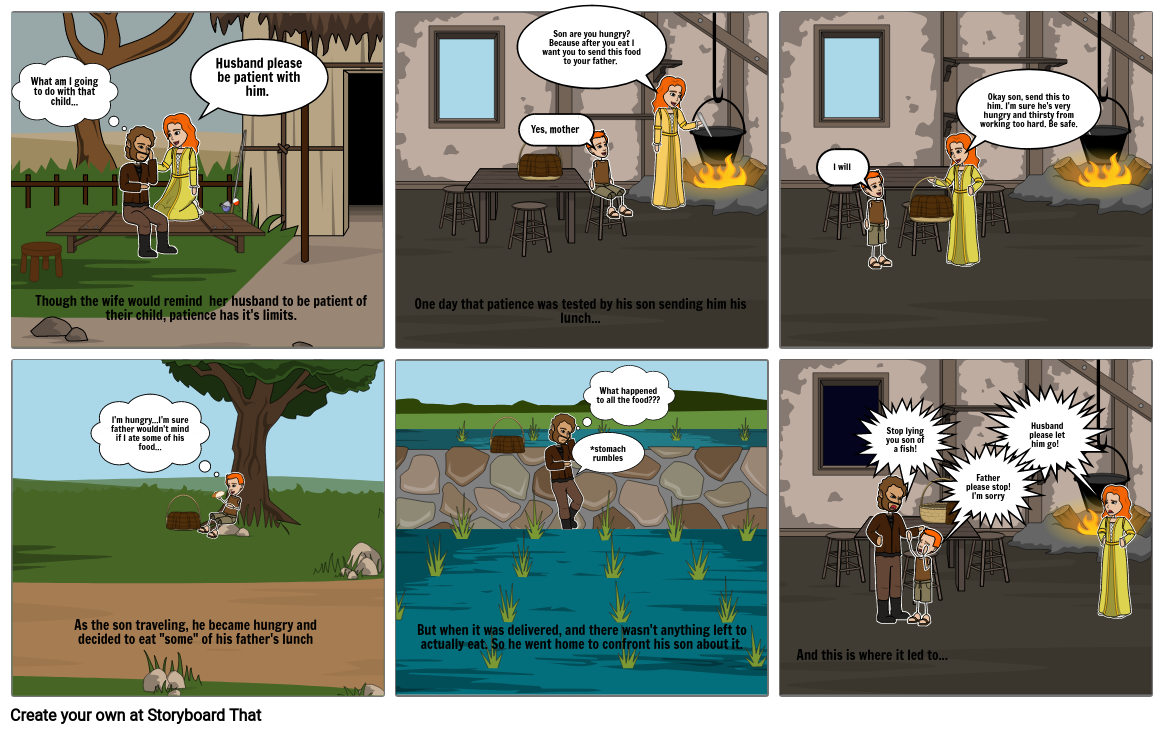 The Legend of The Toba Lake (Part 2); a comic strip