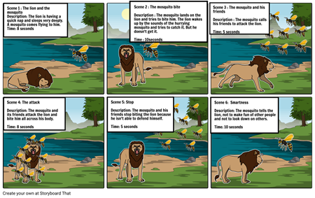 The Lion and the Mosquito Fable (1)