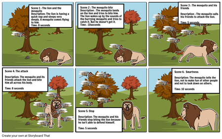 The Lion and the Mosquito Fable (2)