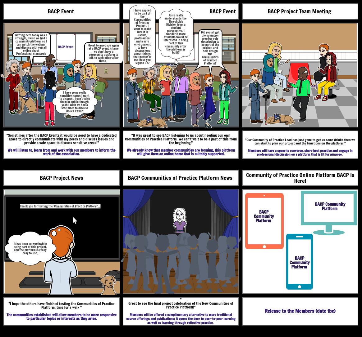 Communities Platform Storyboard