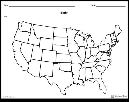 Amerika Birleşik Devletleri Haritası