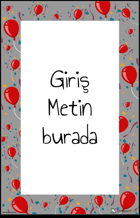Balon Dekorasyon Posteri