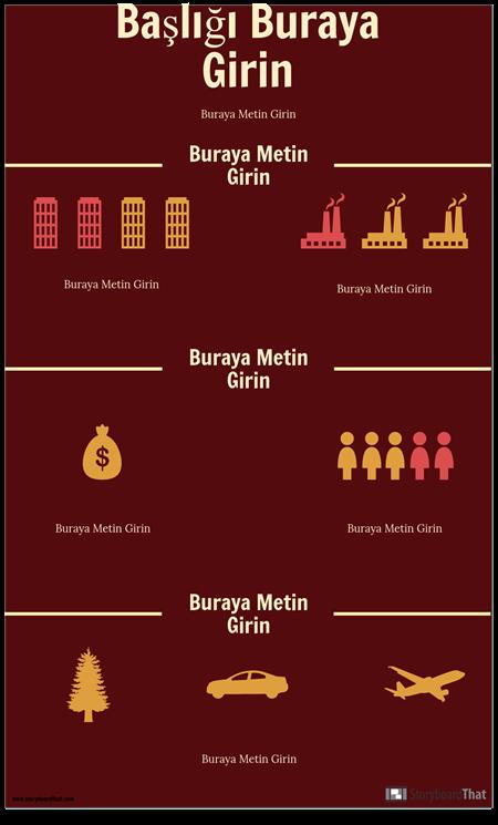 Bilim Infographic Şablonu