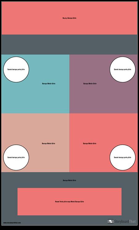 Blok Infographic Şablonu