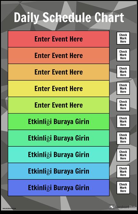 Günlük Program Şeması