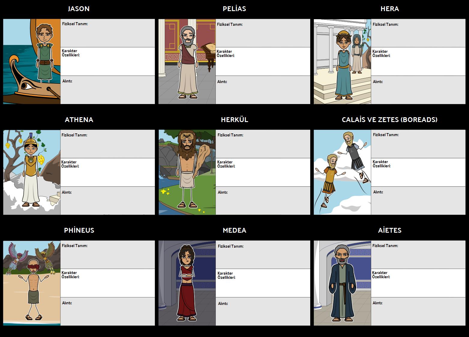 Jason ve Argonauts Karakterleri