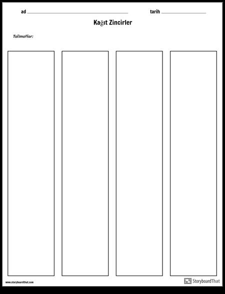 Kağıt Zincirleri Şablonu