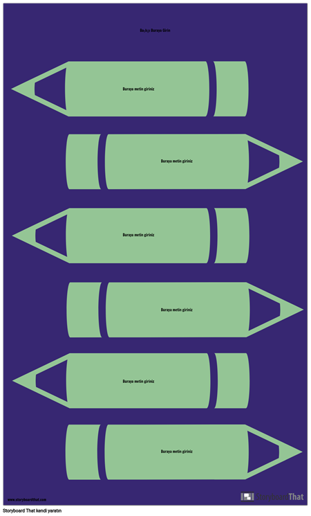Kalemler Infographic Şablonu