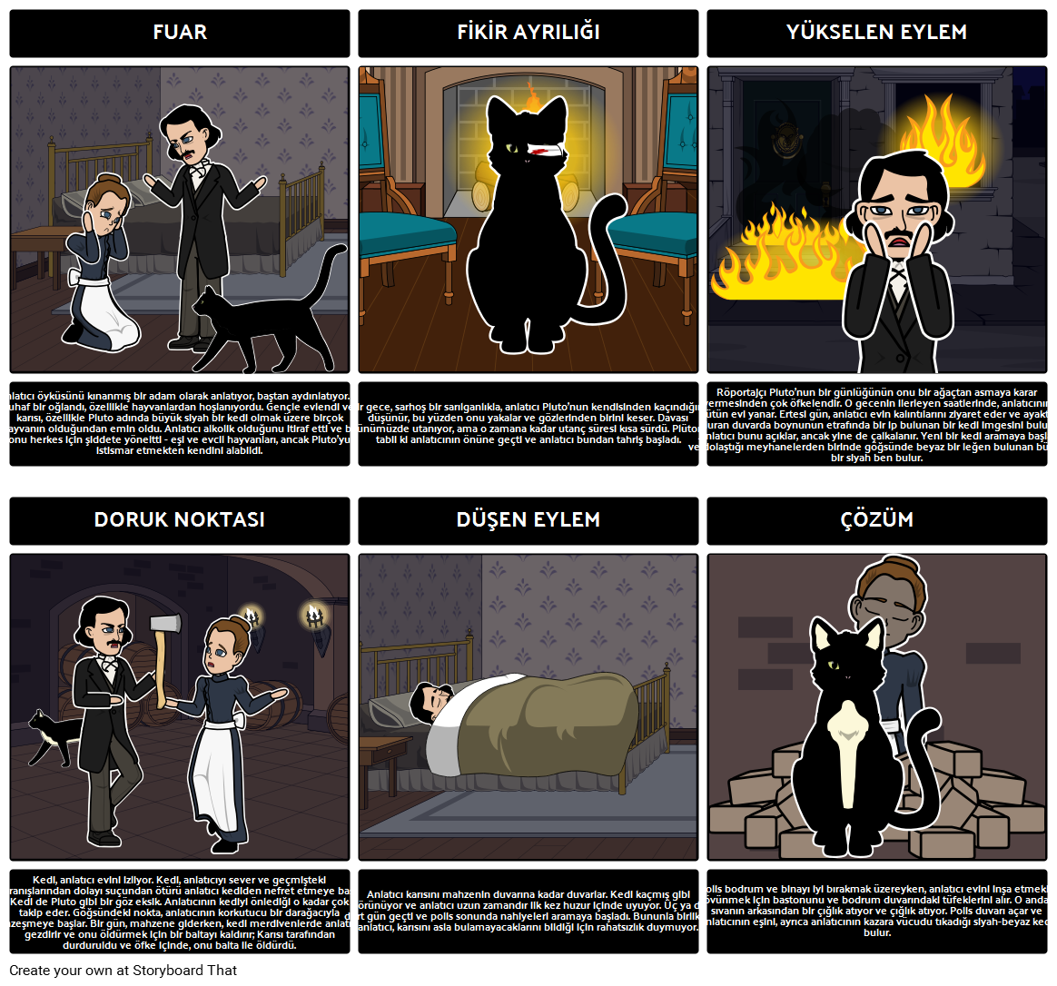 Kara Kedi İçin Arsa Diyagramı