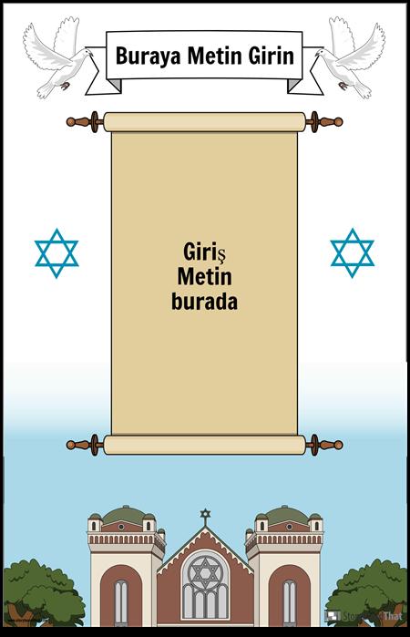 Kaydırma ile Yahudi Poster