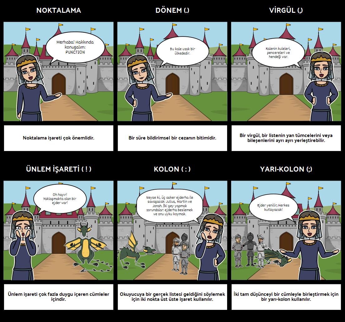 Noktalama Tabancısını Öykü Paterni ile StoryboardThat
