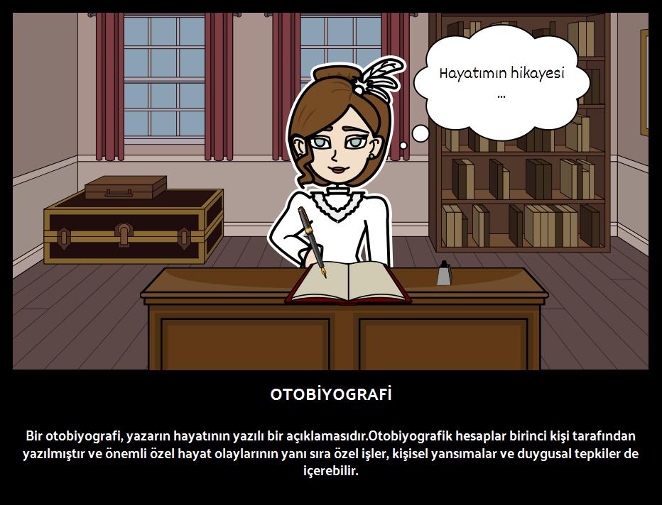 Kitap Türleri özgeçmiş Otobiyografi örnekleri