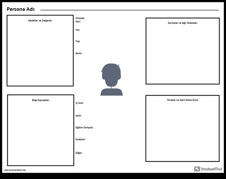 Persona Çalışma Sayfası Şablonu