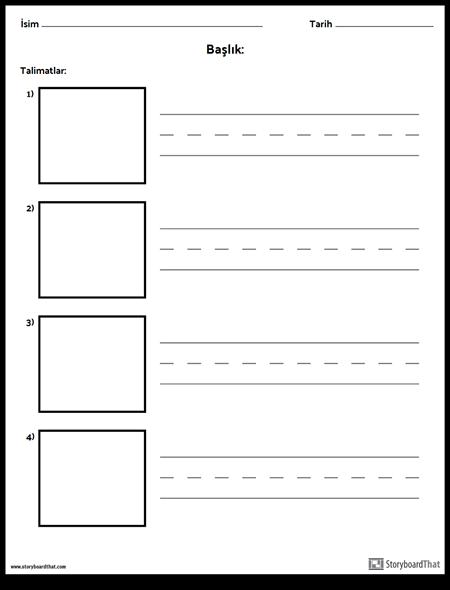 Pratik Yazma - Daha Uzun Kelimeler ve Resim Kutuları