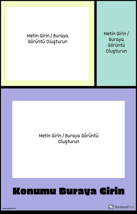 Renkli Bloklar Seyahat Posteri