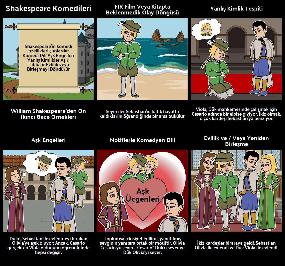 Shakespeare Komedilerinin Öğeleri - Onikinci Gece