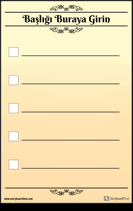 Temel 5 Kontrol Listesi