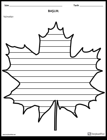 Yaratıcı Yazı - Akçaağaç Yaprağı
