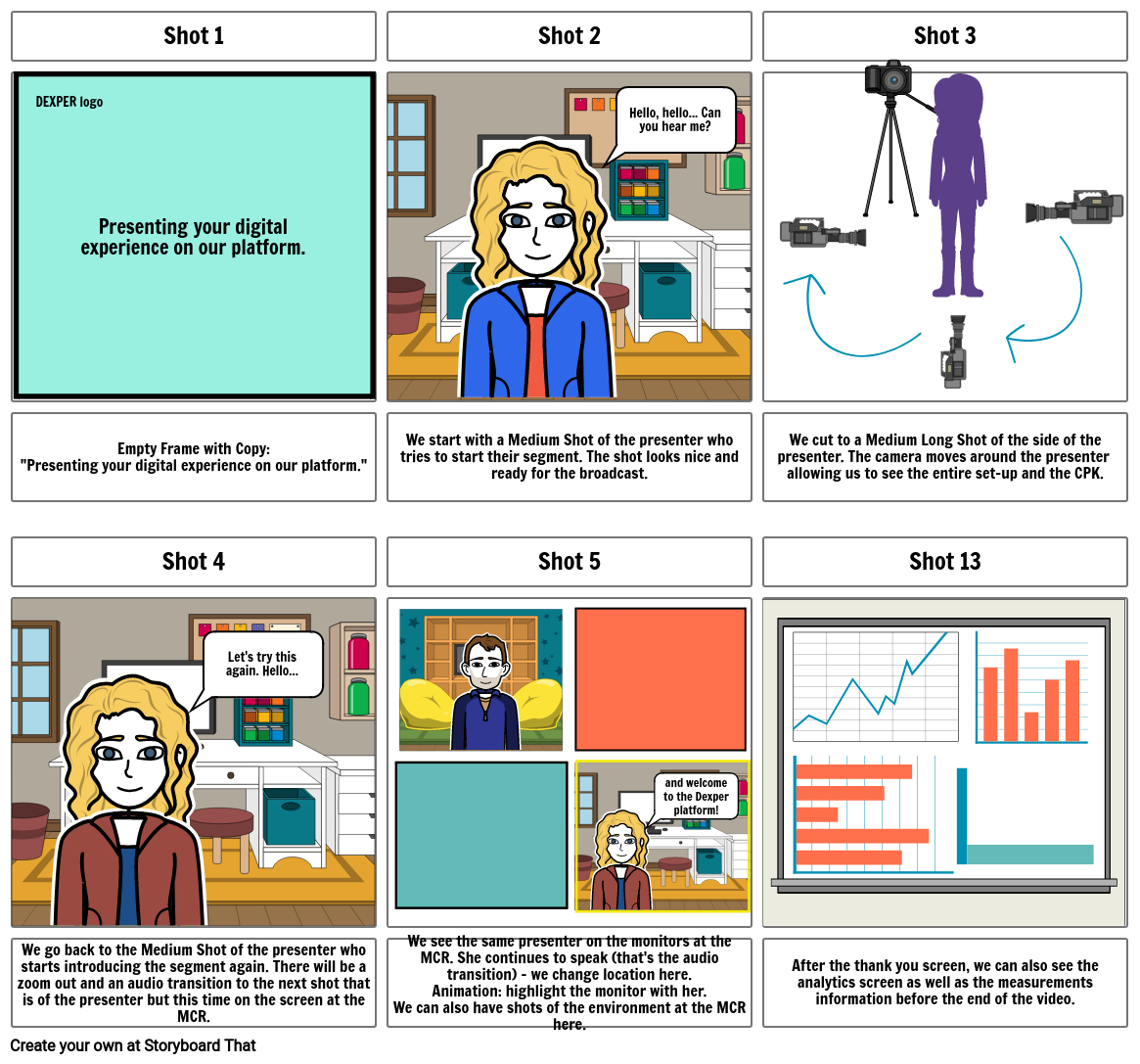 Corporate video Storyboard