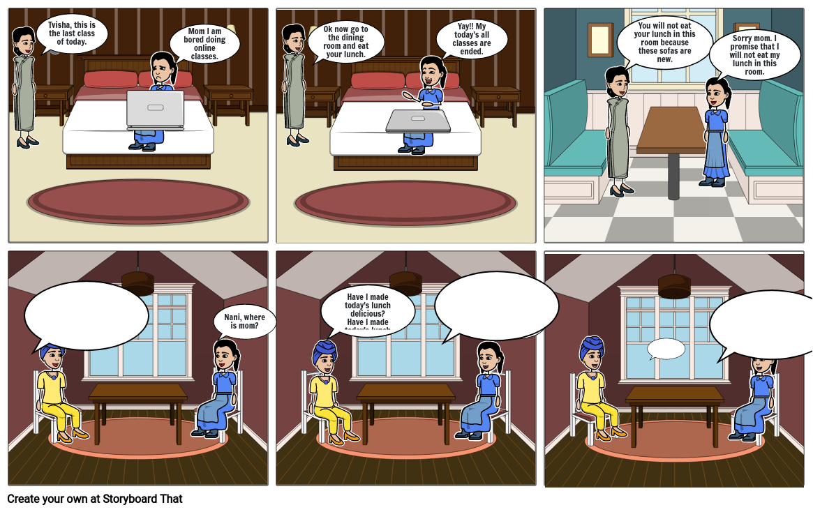 Technology Review - 2 (a comic strip illustrating a day in my life, during