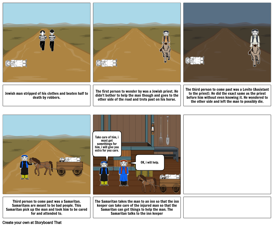 Christian Ed assignment storyboard