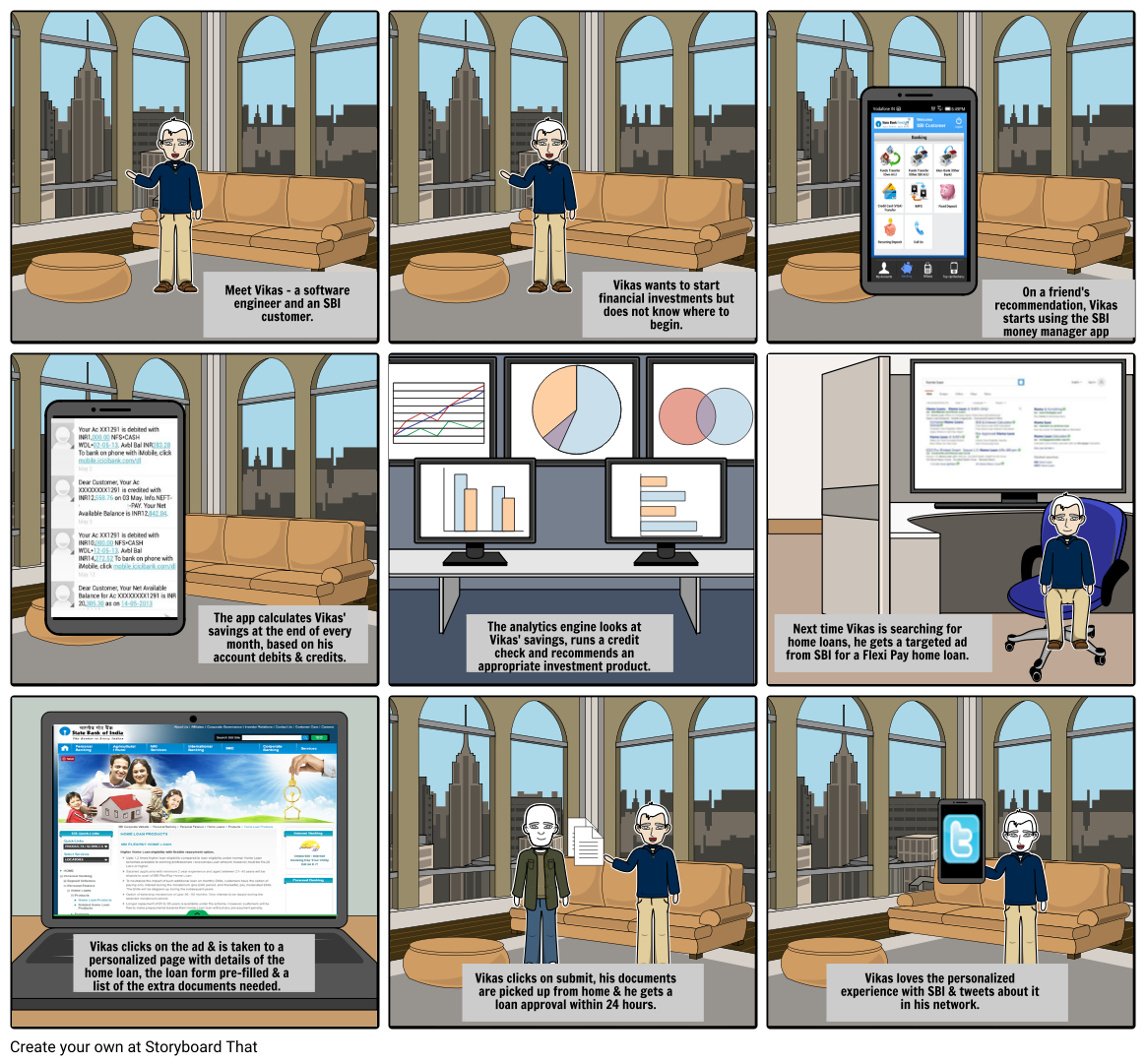 sbi personal money management storyboard by umang