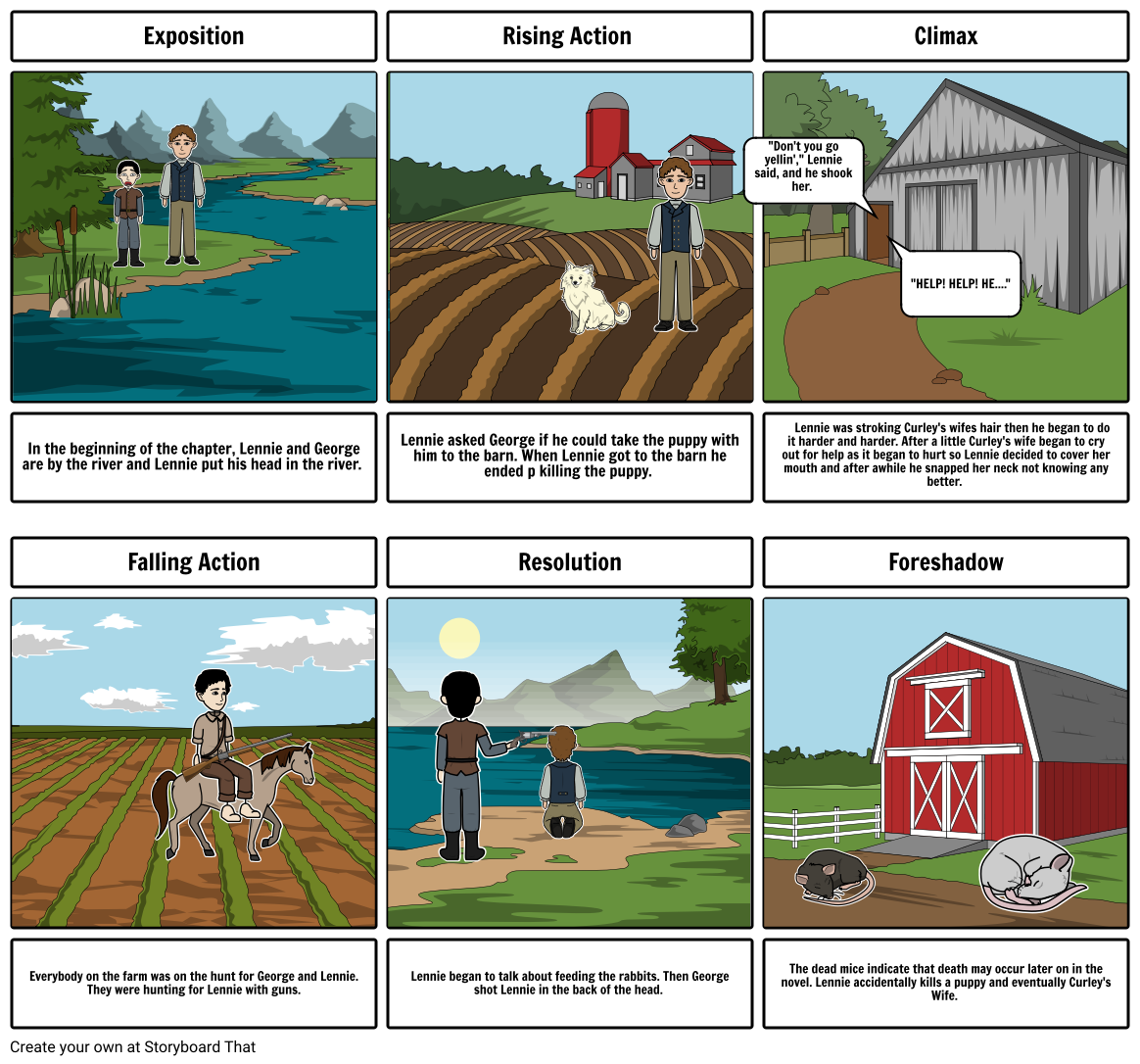 Of Mice and Men Storyboard