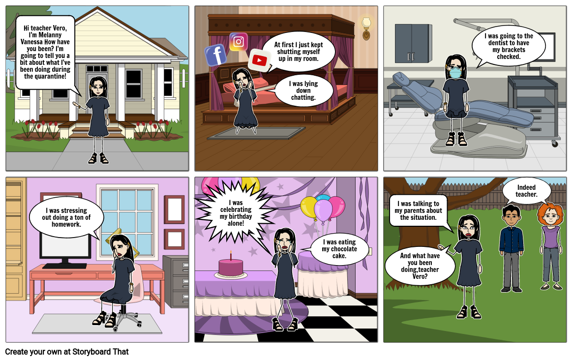 Comic of what I have done in quarantine Vaneee