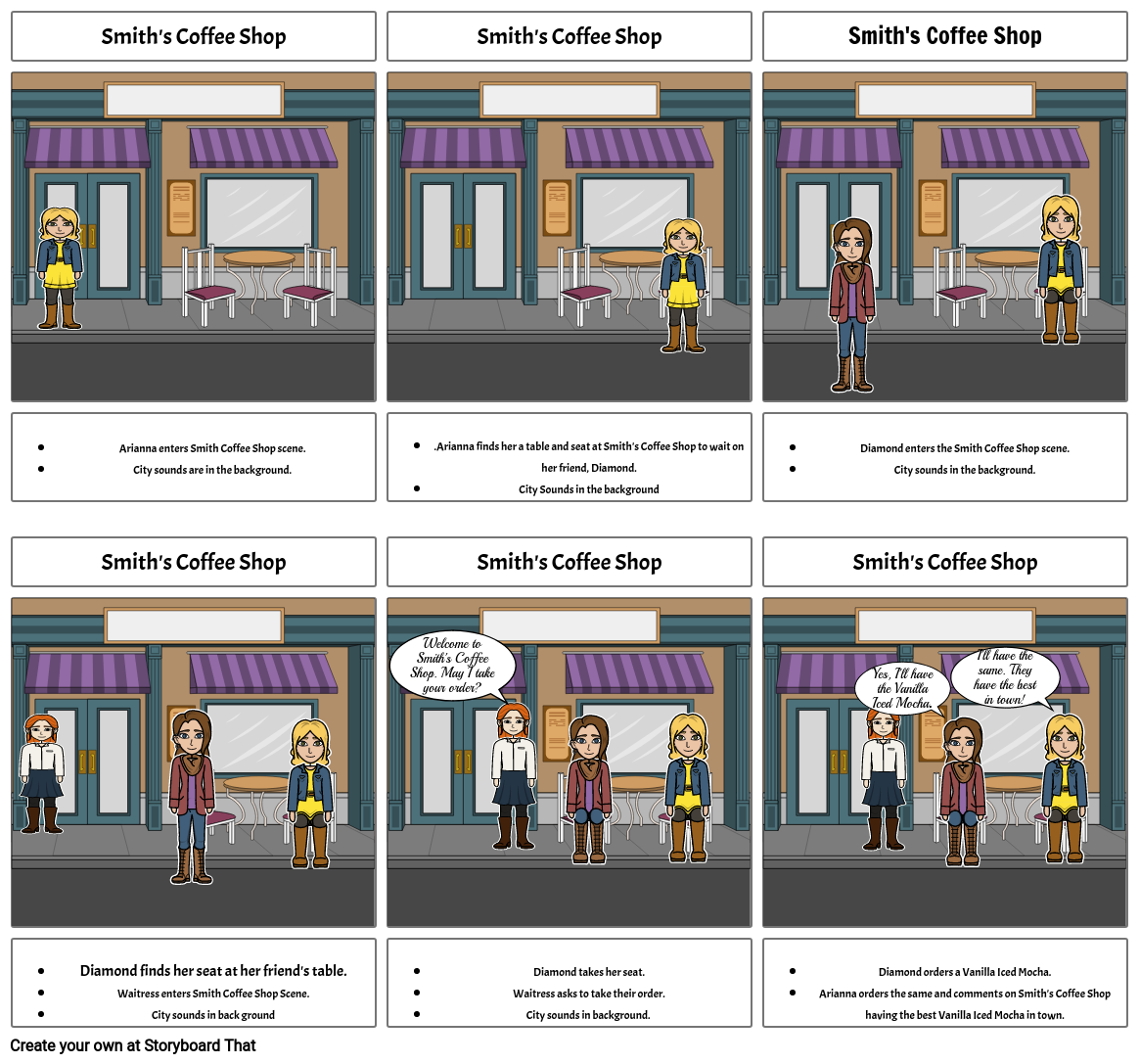 Graphic Design Layout Storyboard