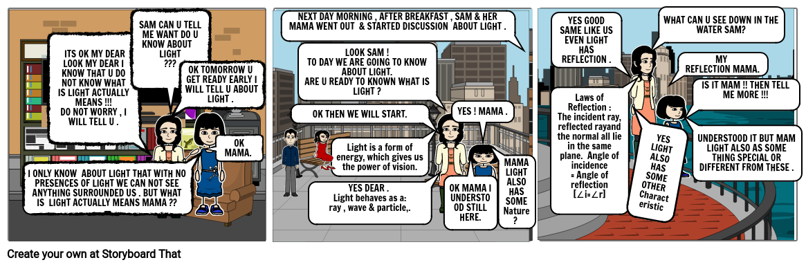 Light – Reflection & Refraction {COMIC STRIP }