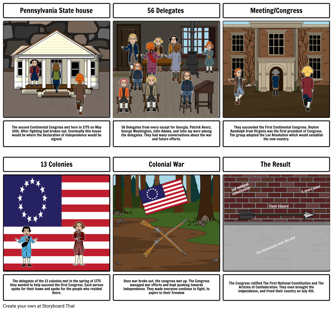 American rev timeline project