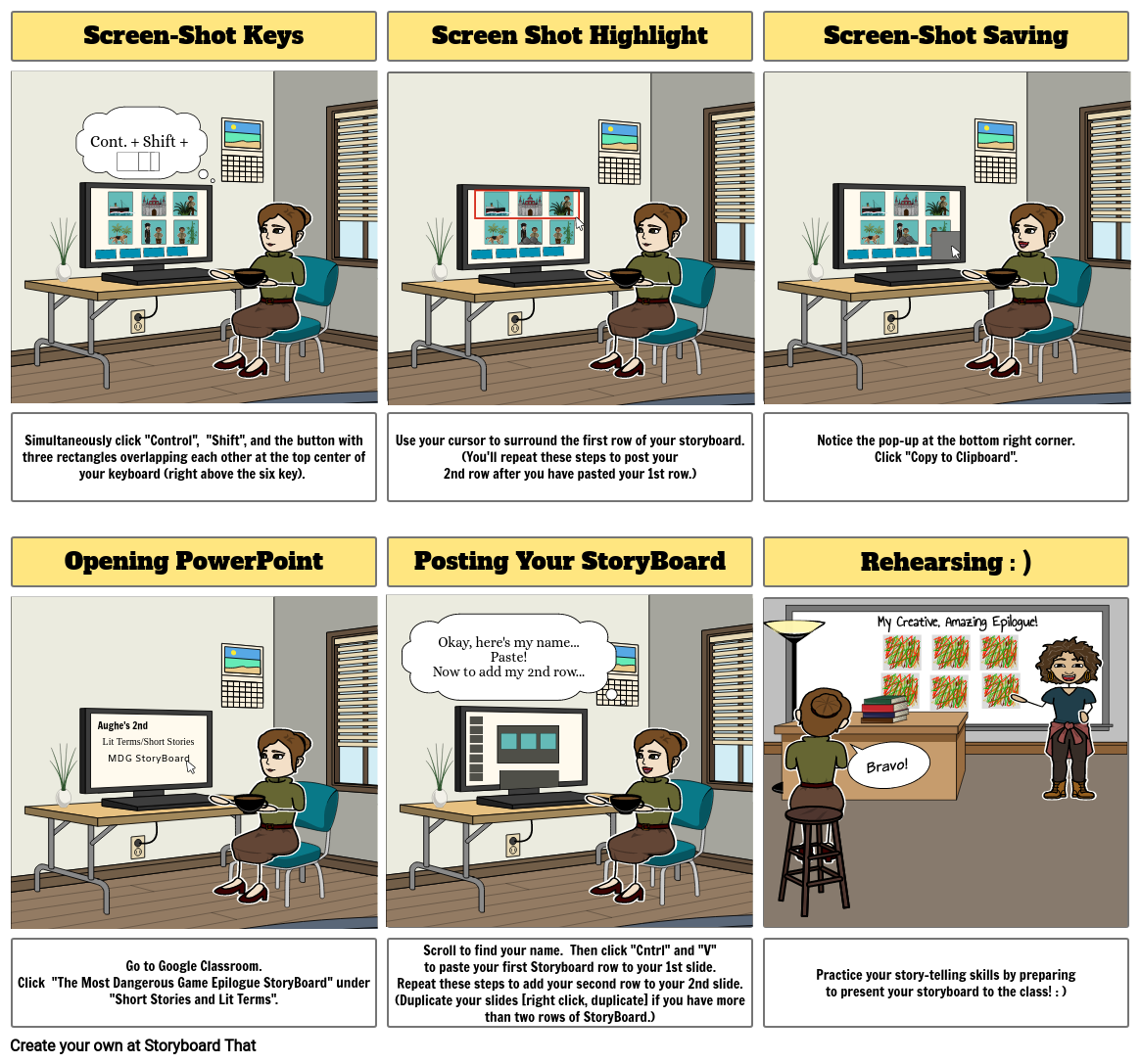 Storyboard That Instructions
