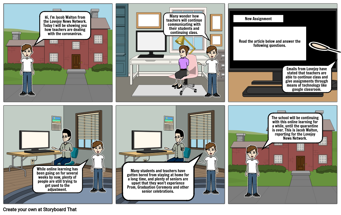 StoryboardThat COVID-19 Assignment