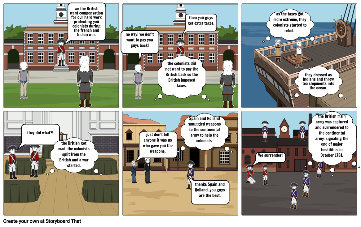storyboard for history