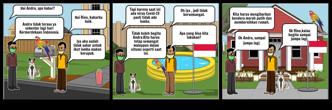 teks percakapan tentang kemerdekaan   Jeho 6 gorontalo