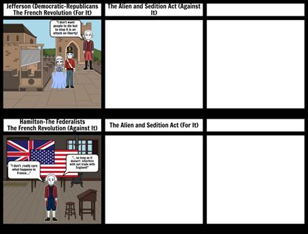 Political Poster Jefferson-vs-Hamilton
