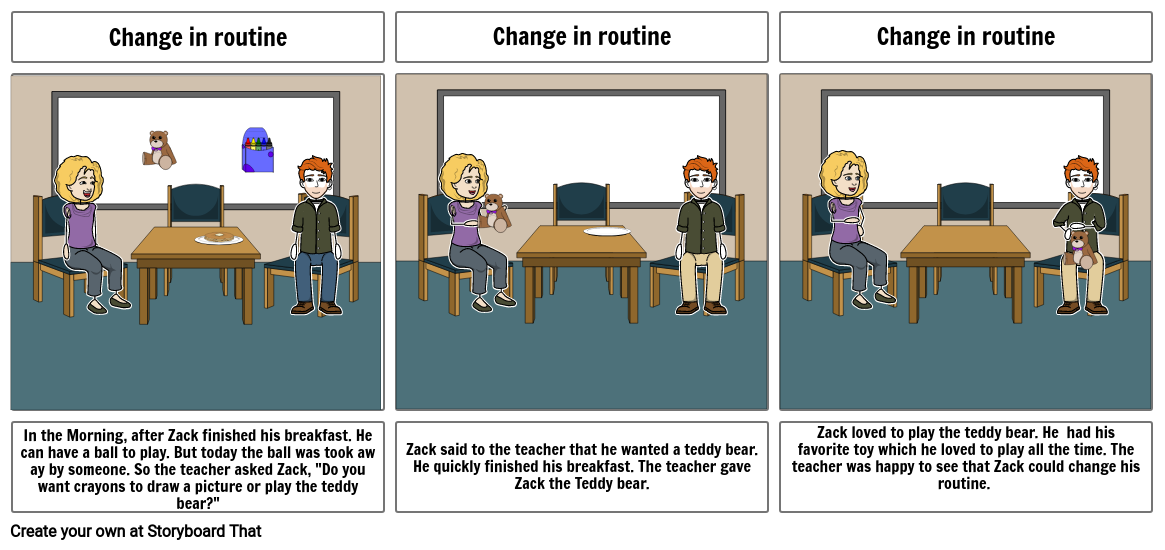 Change in routine