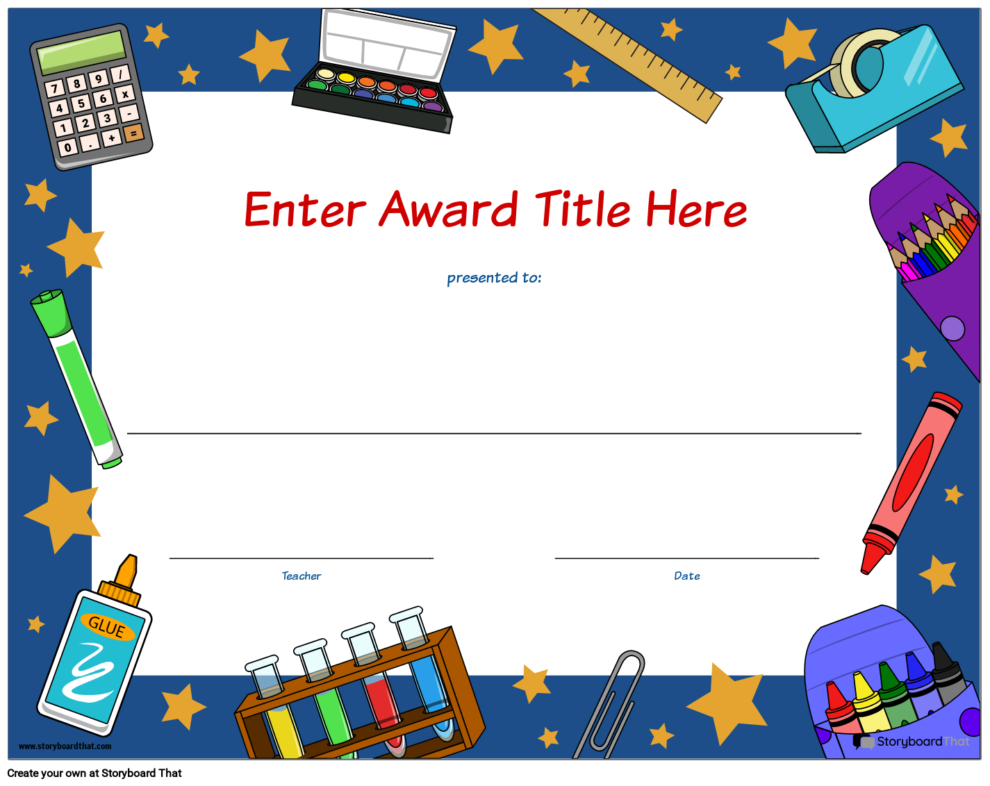 Create Student Awards  Printable Award Certificates Pertaining To Free Printable Student Of The Month Certificate Templates