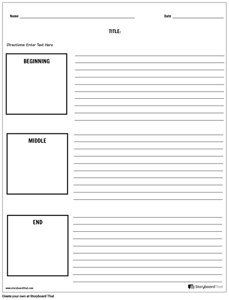 Create A Bme Worksheet Bme Templates Beginning Middle End