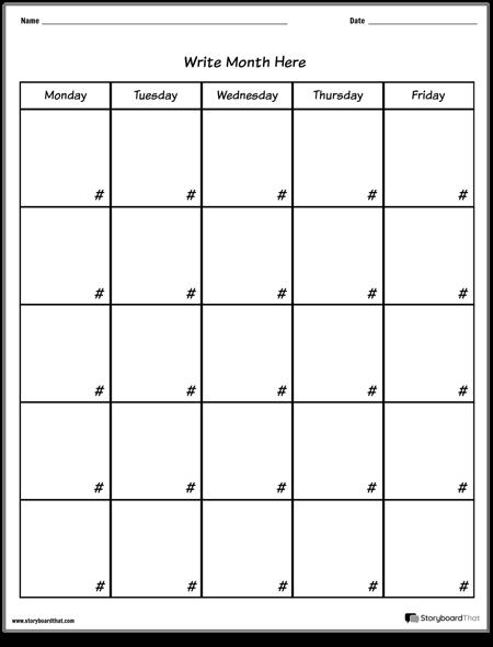 Calendar - Week Day